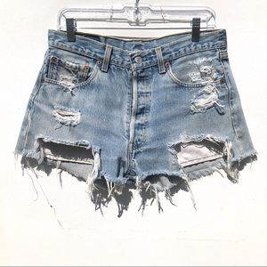 Petros Levi's 501 Jean Vintage Shorts 30 31 denim